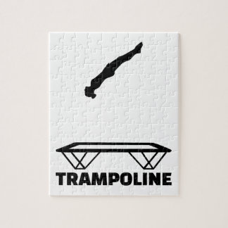 Trampoline trampolinist jigsaw puzzle