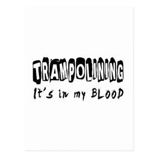 Trampolining It's in my blood Postcard