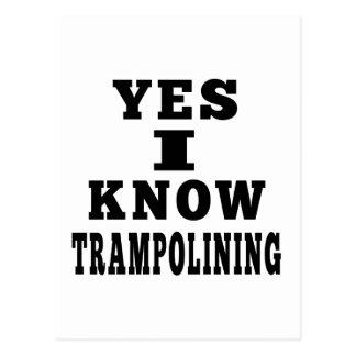 Trampolining Postcard