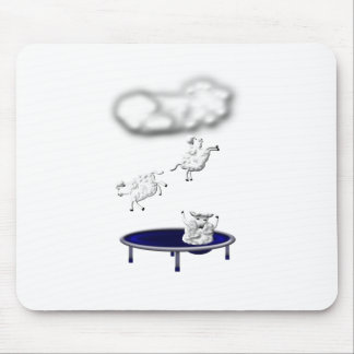 trampolining sheep or how clouds are made mouse pad