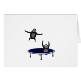 trampolining sloths card