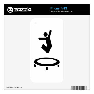 Trampolinist Decals For iPhone 4S