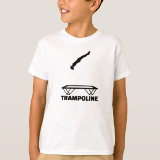 Trampolinist del trampolín playera