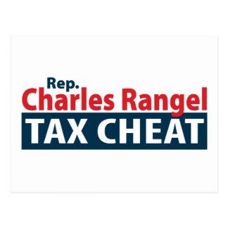 Tramposo del impuesto de Charles Rangel Tarjetas Postales
