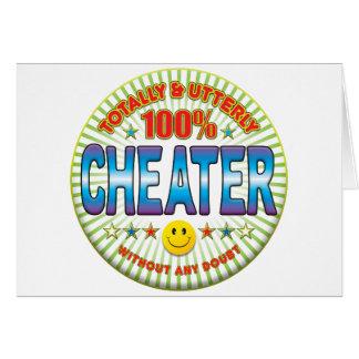 Tramposo totalmente tarjeta de felicitación