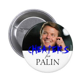 Tramposos para Palin Pin Redondo De 2 Pulgadas