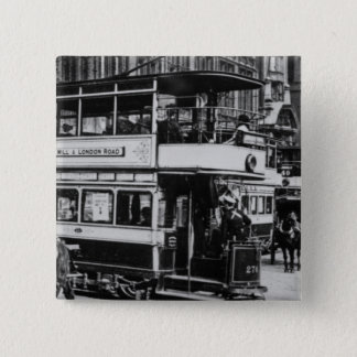 Trams in Manchester, c.1900 Button