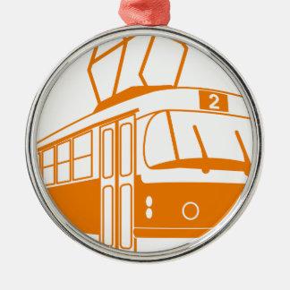 Tramway transportation electric metal ornament
