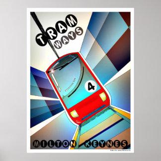 Tramways for Milton Keynes poster art/print