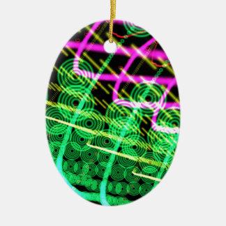 Trance Abstract Dj Ceramic Ornament