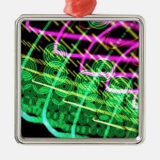 Trance Abstract Dj Metal Ornament