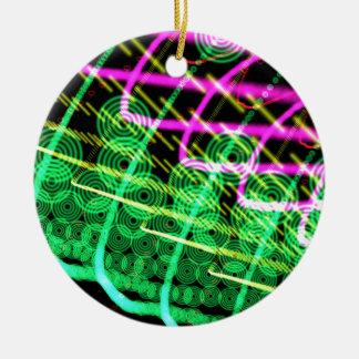 Trance DJ abstracto Adorno Navideño Redondo De Cerámica