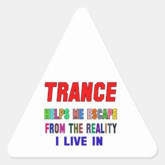 Trance Helps Me Triangle Sticker
