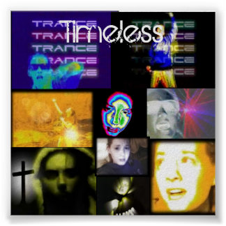 trance, lights, dancing, trippy poster