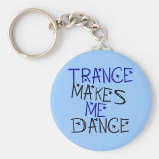 Trance Makes Me Dance Basic Round Button Keychain