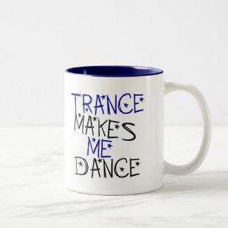 Trance Makes Me Dance Two-Tone Coffee Mug