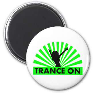 Trance on light show design 2 inch round magnet