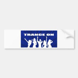 Trance on rave design bumper sticker