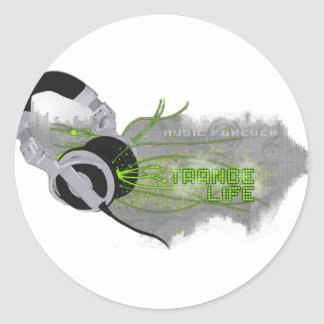 Trance Round Stickers