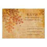 Tranished Lacy Leaves Fall Wedding RSVP Card Personalized Invite