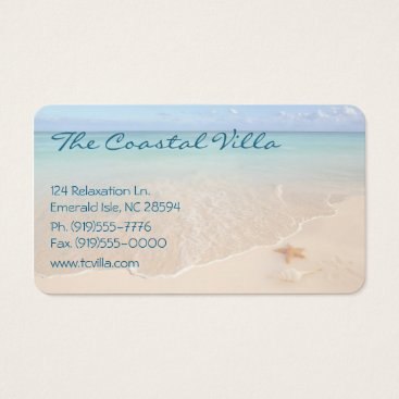 Beach Themed Tranquil Beach Business Card