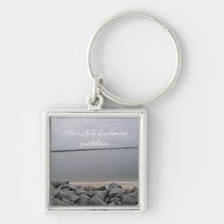 Tranquil Beach Key Chain