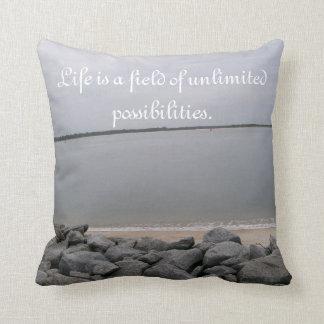 Tranquil Beach Reversible Pillow