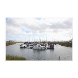 Tranquil Berths Canvas Gallery Wrap Canvas