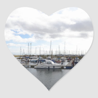 Tranquil Berths Heart Sticker
