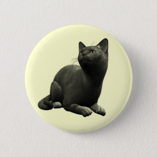 Tranquil Black Cat Button