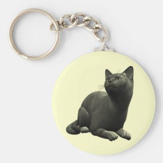 Tranquil Black Cat Key Chain