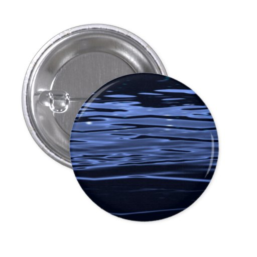 Tranquil Blue Water Pinback Buttons