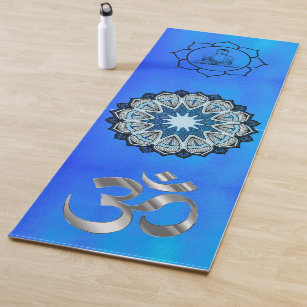 Yoga Mat With Omega Symbol