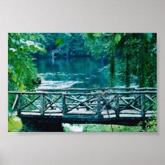 tranquil bridge print
