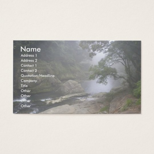 Tranquil Brook/Nature in Mist Business Card