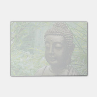 Tranquil Buddha Statue in a Lush Green Forest Post-it Notes