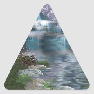 Tranquil Falls Triangle Sticker
