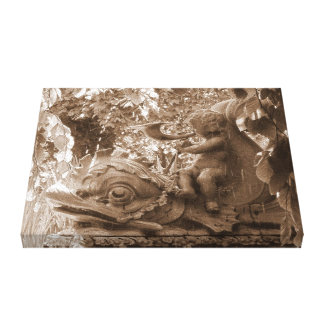 Tranquil Fountain Canvas Prints