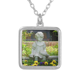 Tranquil Gardens Square Necklace
