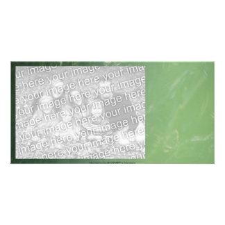 tranquil green water ripples picture card