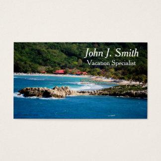 Tranquil Island Paradise Labadee Haiti Business Card