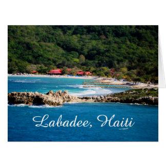 Tranquil Island Paradise Labadee Haiti Card