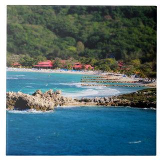 Tranquil Island Paradise Labadee Haiti Ceramic Tile