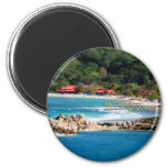 Tranquil Island Paradise Labadee Haiti 2 Inch Round Magnet