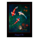 Tranquil Koi Greeting Cards