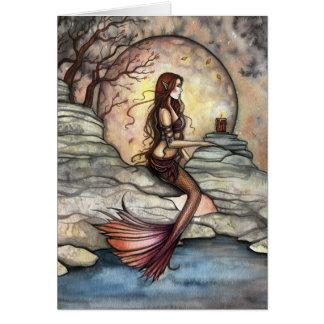 Tranquil Lagoon Mermaid Art Card