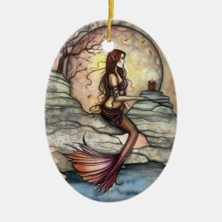 Tranquil Lagoon Mermaid Art Ornament