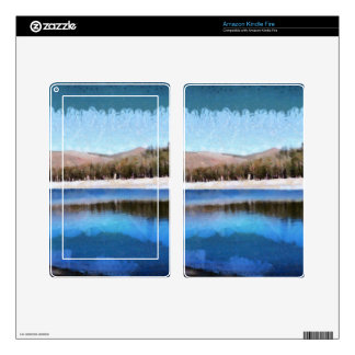 Tranquil lake and wonderful scenery kindle fire skins