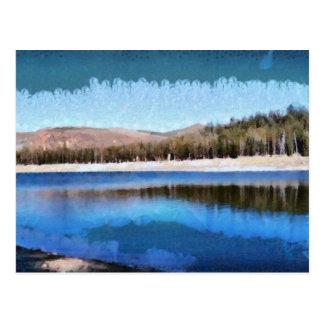Tranquil lake and wonderful scenery postcard
