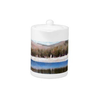 Tranquil lake and wonderful scenery teapot